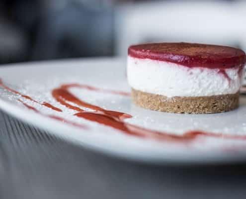 Tarta de queso Quark, tarta de queso, pastel del queso quark, postre de queso quark