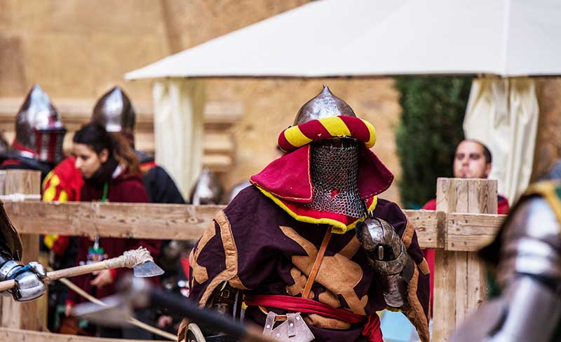 entrenar lucha medieval