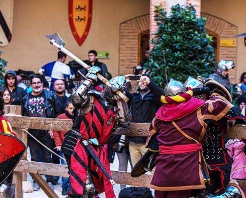 practicar combate medieval en barcelona