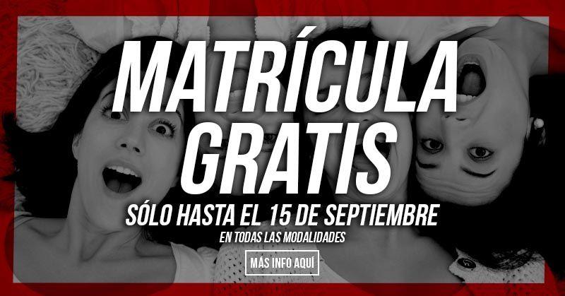 matricula gratis oferta gimnasio barcelona
