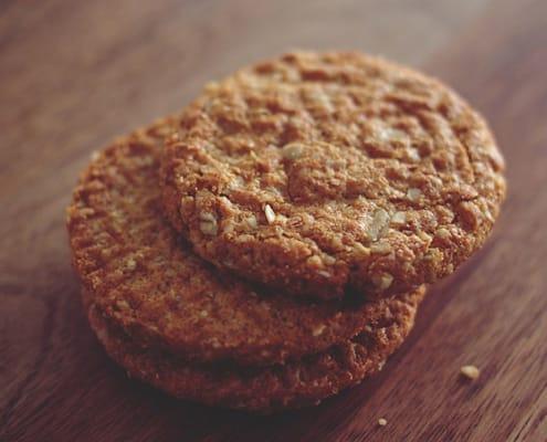 receta de galletas de avena con nueces