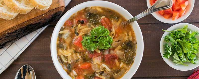 receta deSopa de pollo y verduras