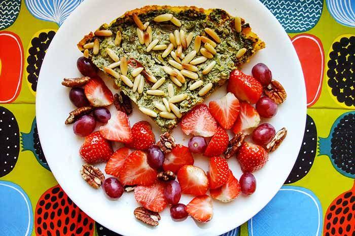 Pastel de feta espinacas y Kale