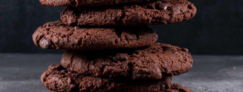 Galletas proteicas de chocolate y frambuesa